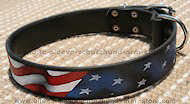 Leather dog collar Handpainted by our artists - American Pride