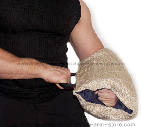 jute puppy soft sleeve - short bite sleeve