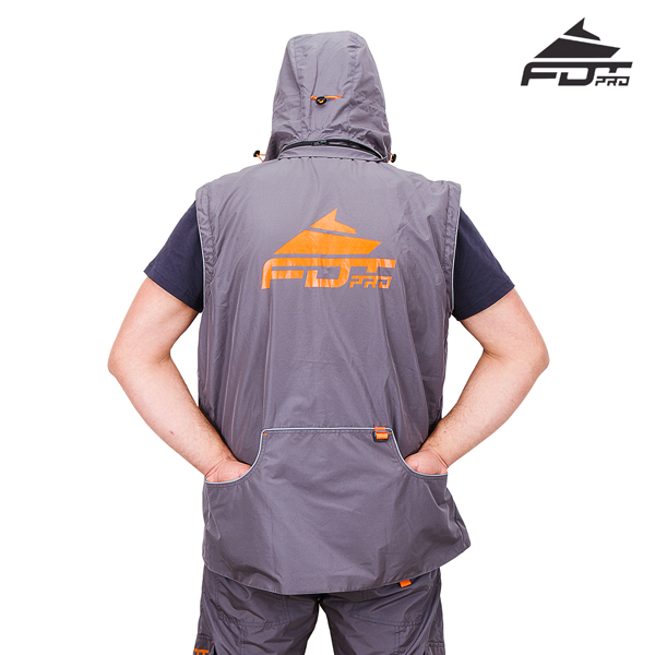 Top Notch Dog Training Suit of Grey Color from FDT Pro