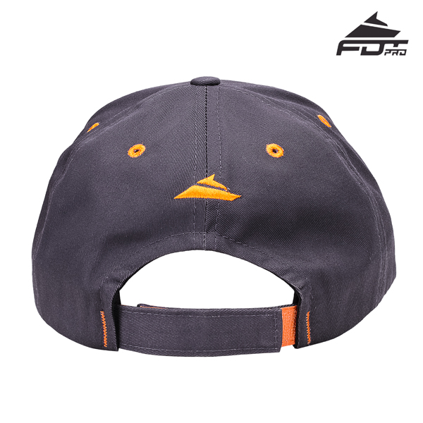 Easy to Adjust One-size Snapback Cap of Dark Grey Color for Dog Walking