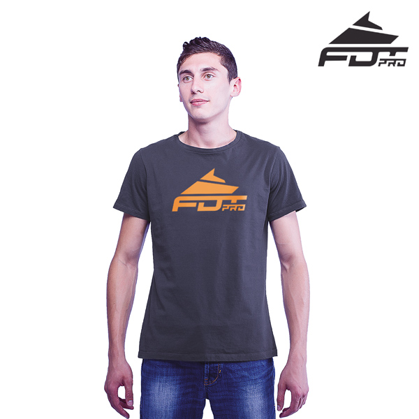 Quality Cotton FDT Professional Men T-shirt of Dark Grey