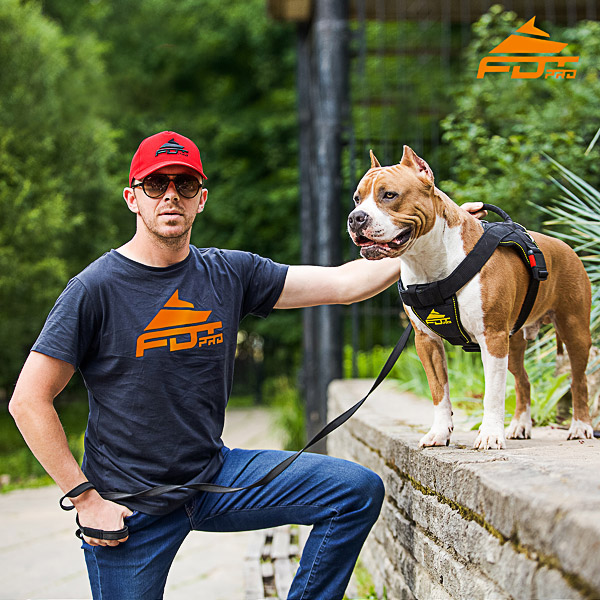 Men T-shirt of High Quality Cotton with Logo for Dog Trainers