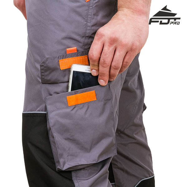 FDT Pro Design Dog Training Pants with Strong Velcro Side Pocket