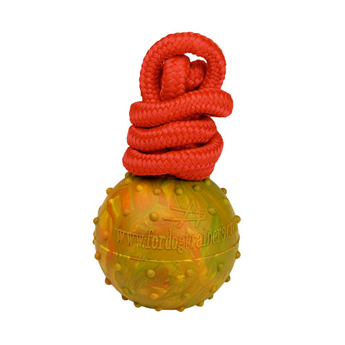Solid Rubber Ball with String Attached for Training and Having Fun