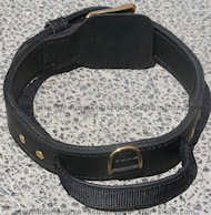 2 ply leather agitation dog collar with handle for dog training